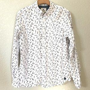 """Sperry """"Chopsticks"""" Button Down Cotton Shirt Sz S"""